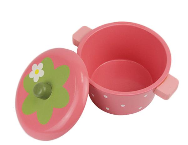 Детский набор кухонной посуды «Клубничный»