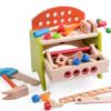 Детская деревянная железная дорога на столе