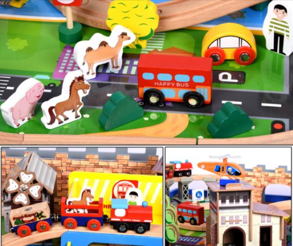 Деревянная детская железная дорога «Томас»