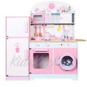 Детская деревянная кухня «Неженка» с холодильником