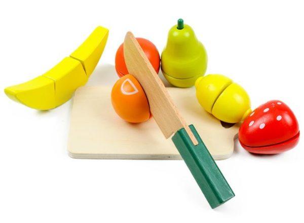 Деревянные овощи и фрукты
