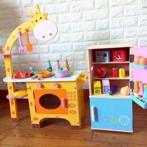 Детская деревянная кухня для детей«Жираф»
