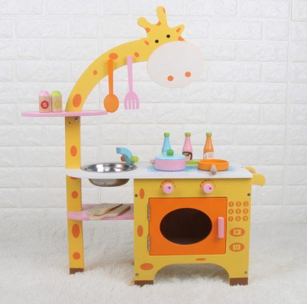 Детская деревянная кухня «Жираф»